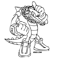 Vector The Crocodile Coloring Page Free Kids Games And Coloring Pages At Kidex Com